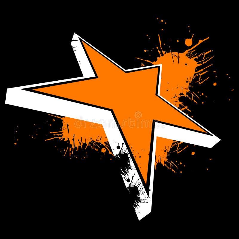 Estrela alaranjada ilustração royalty free