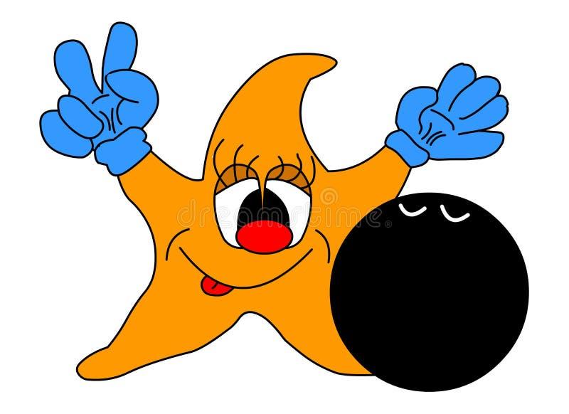 Estrela alegre ilustração do vetor