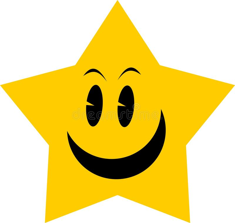 Estrela amarela ilustração stock