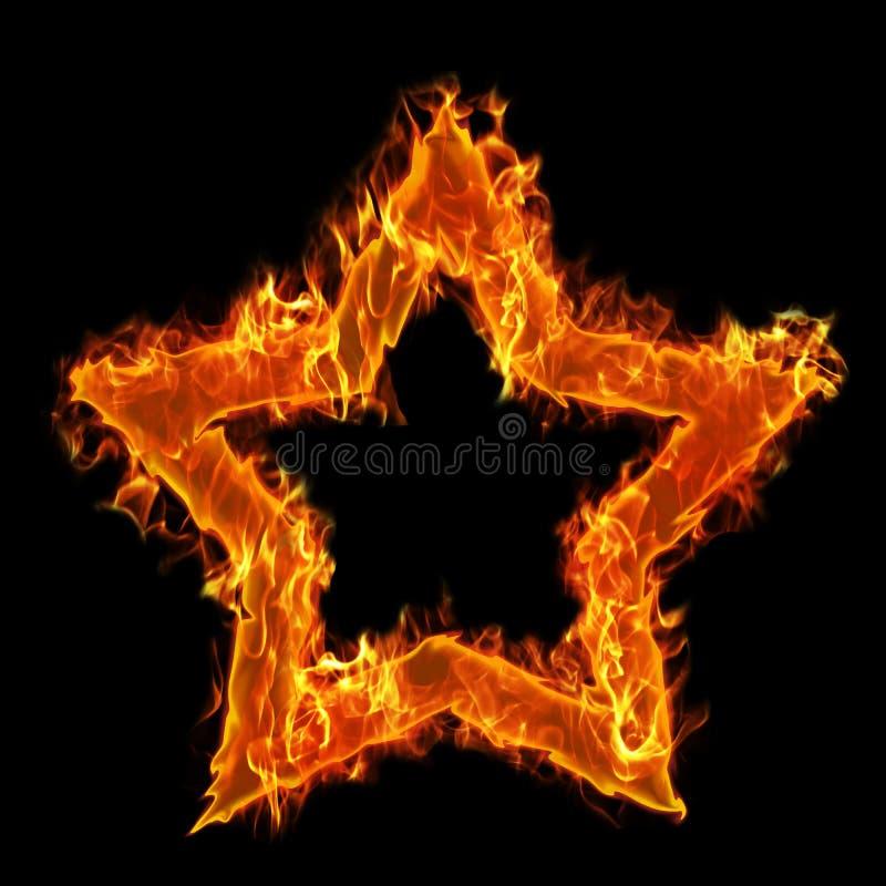 Estrela ardente ilustração royalty free