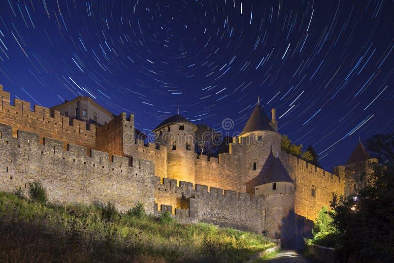 A estrela arrasta - Carcassonne - França fotos de stock royalty free