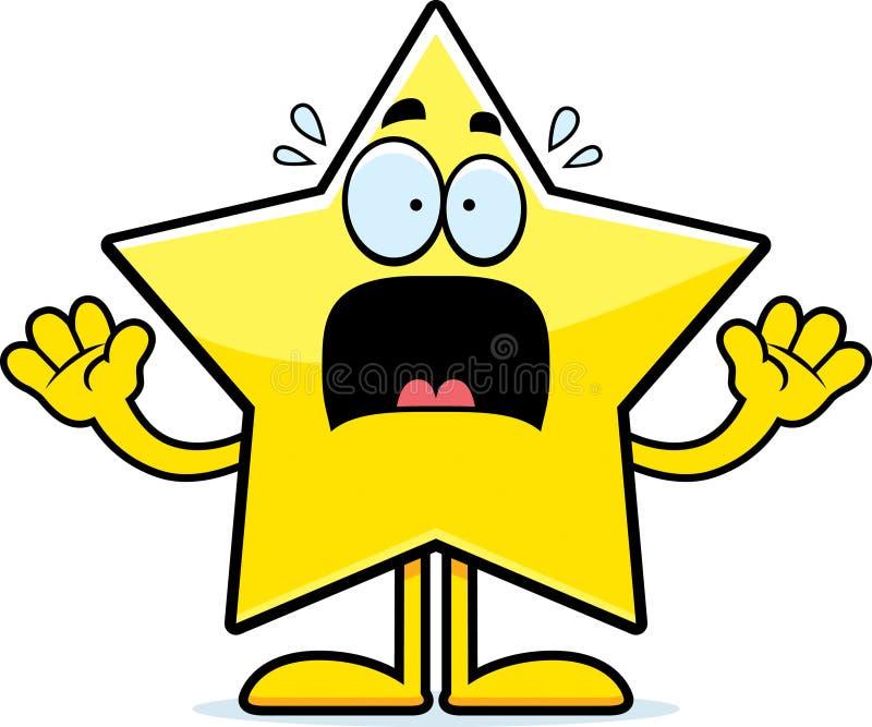 Estrela assustado dos desenhos animados ilustração royalty free