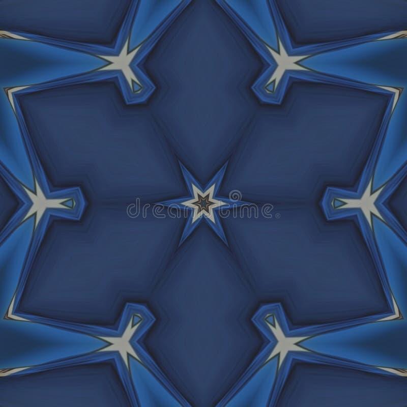Estrela azul e listras douradas ilustração stock