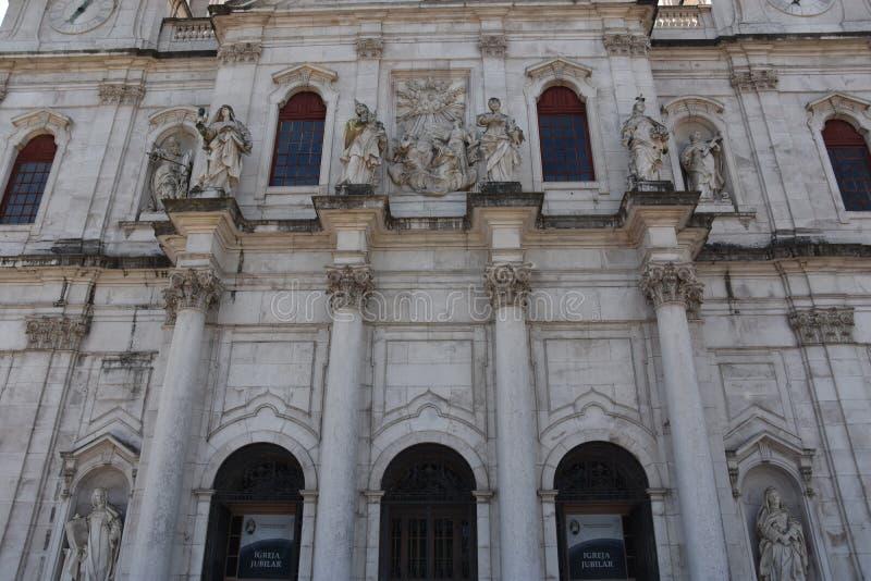 Estrela basilika i Lissabon, Portugal arkivfoto