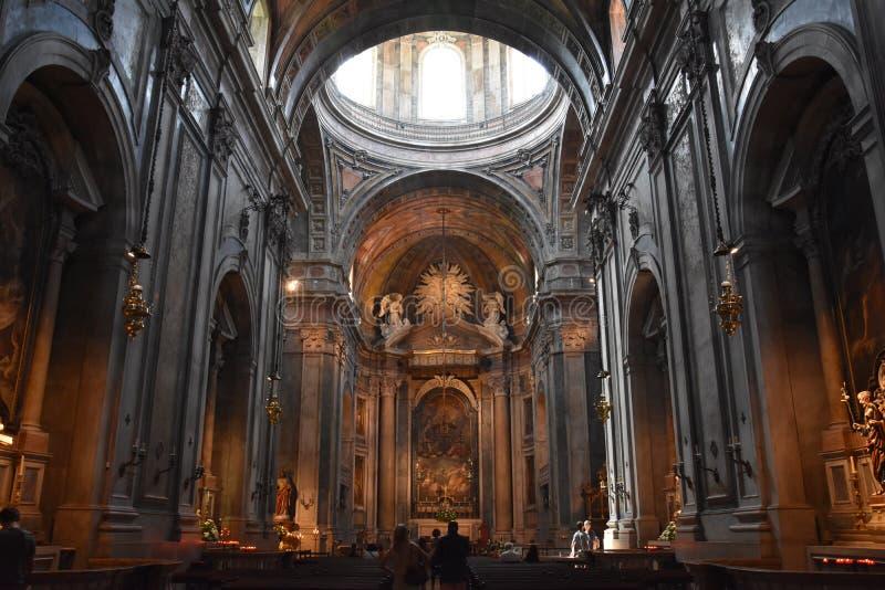 Estrela basilika i Lissabon, Portugal royaltyfri bild