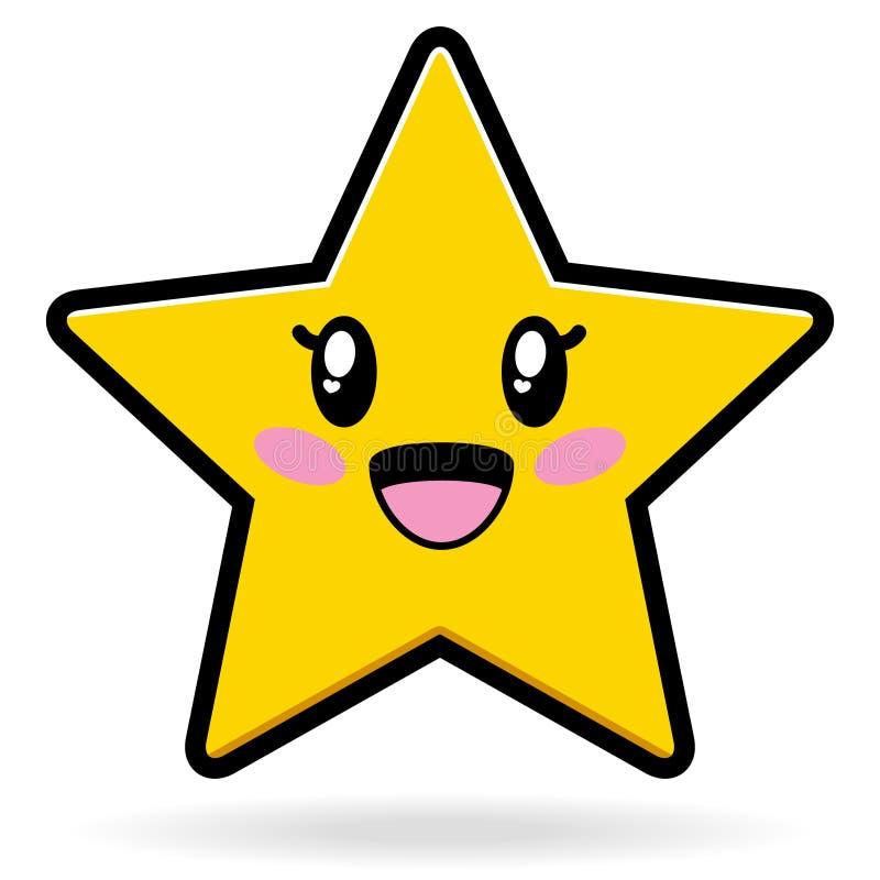 Estrela bonito ilustração stock