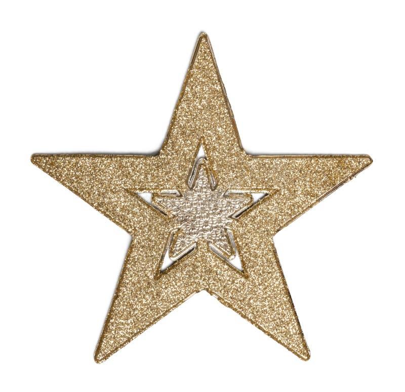 Estrela brilhante do Natal isolada no branco imagem de stock royalty free