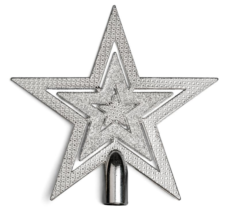 Estrela brilhante do Natal isolada no branco fotos de stock