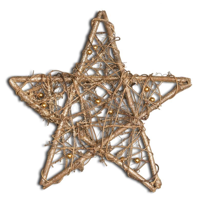 Estrela brilhante do Natal no branco fotos de stock