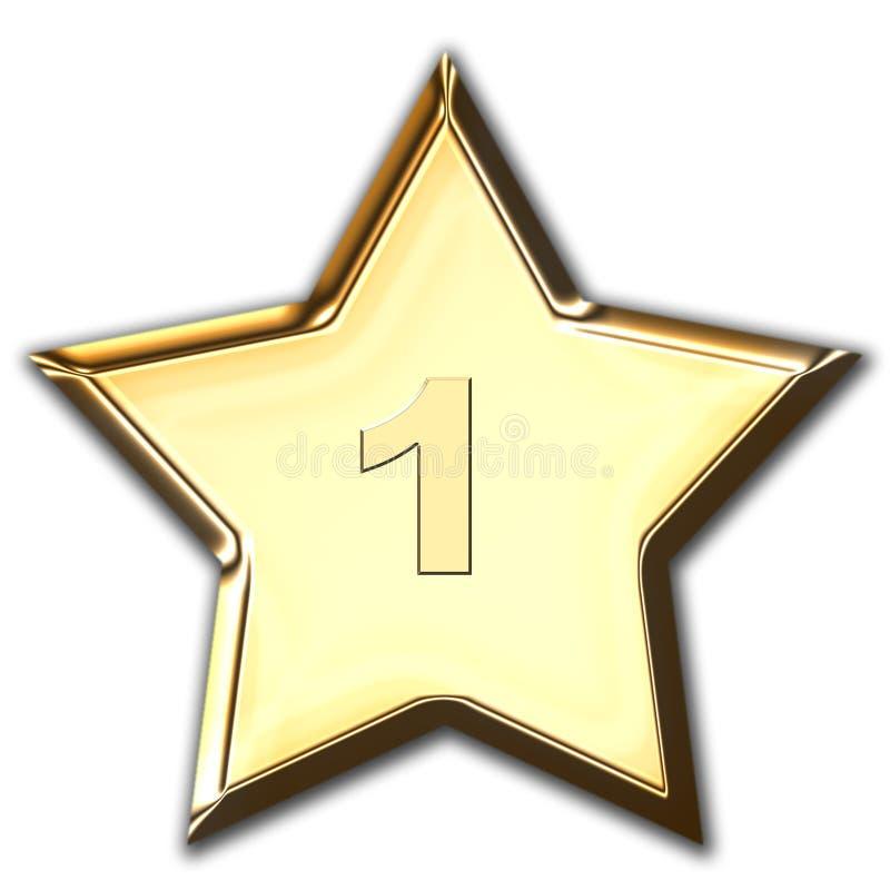 Estrela brilhante do ouro ilustração royalty free