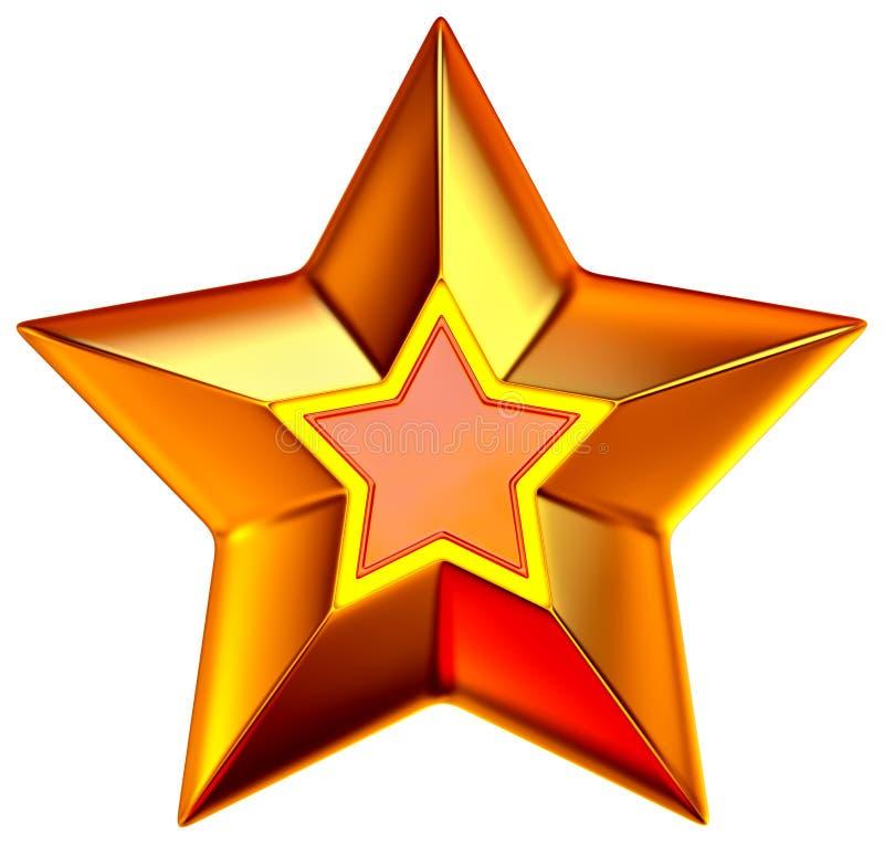 Estrela brilhante do ouro ilustração do vetor