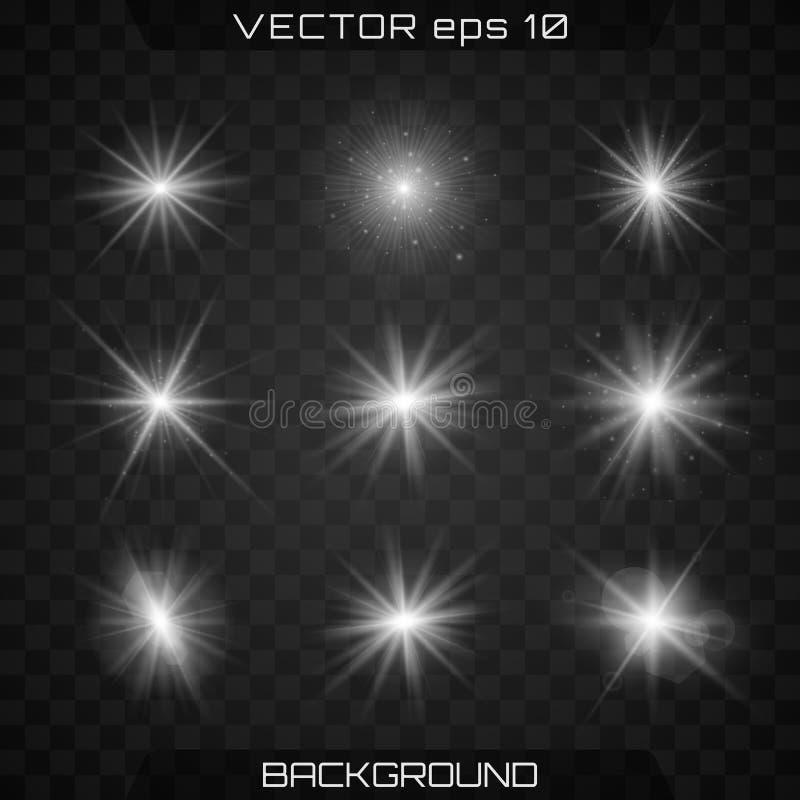 Estrela brilhante luz ilustração stock