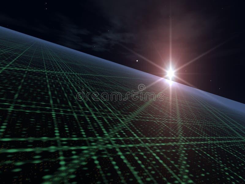 Estrela brilhante sobre a disposição clara ilustração do vetor