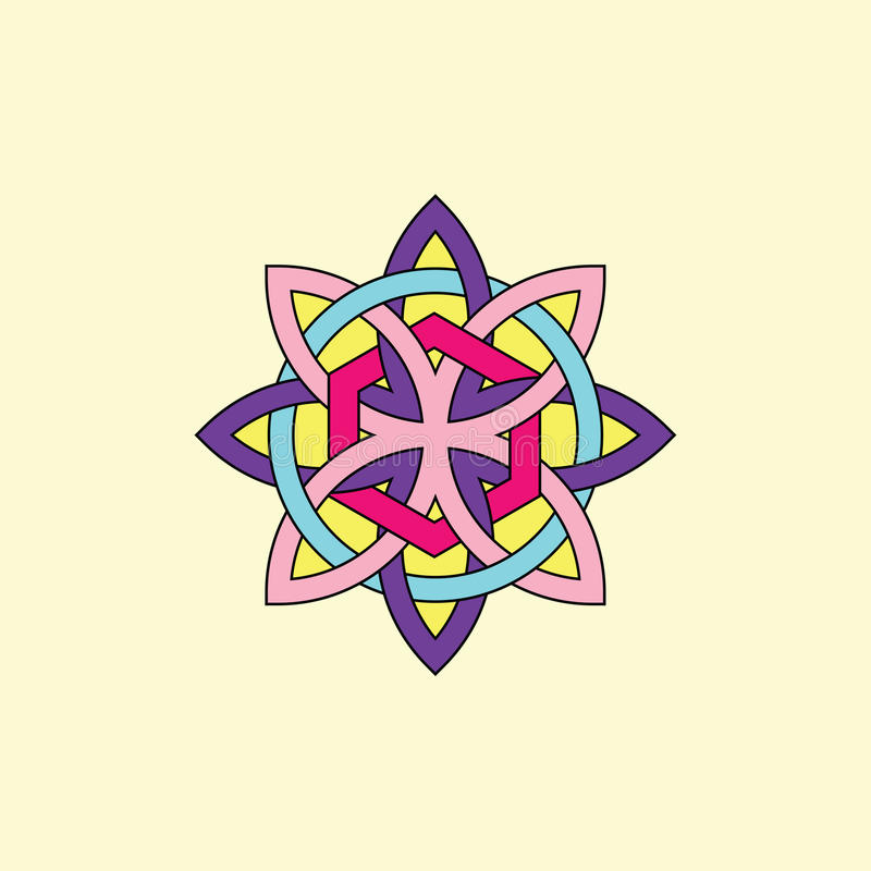 Estrela celta ilustração royalty free