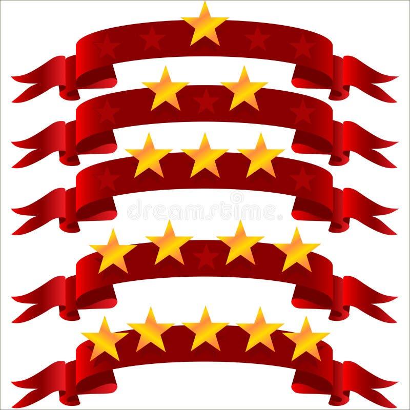 Estrela cinco na fita ilustração do vetor