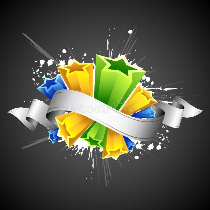 Estrela colorida abstrata ilustração stock