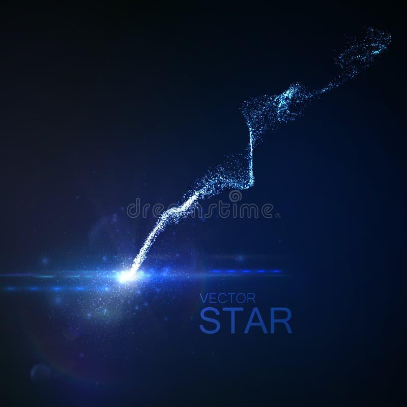 Estrela com fuga de incandescência ilustração stock