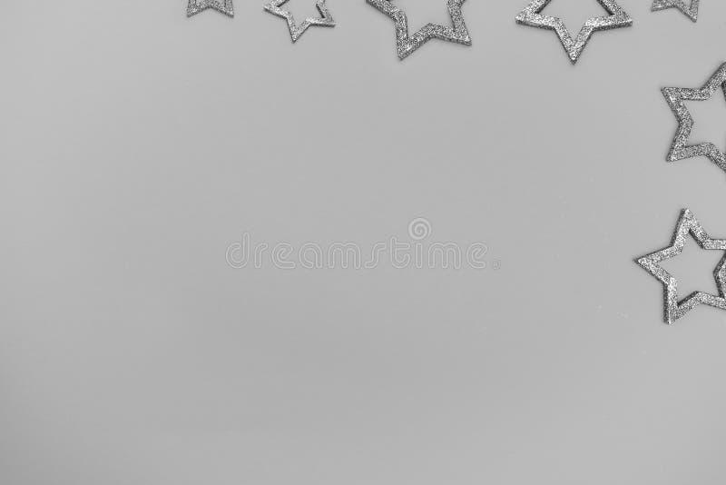 Estrela com sparkles Vista superior Conceito festivo Copie o espaço foto de stock royalty free