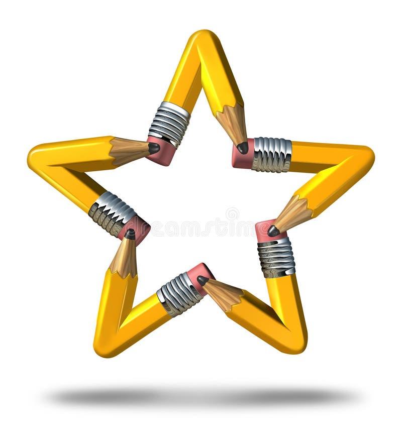 Estrela criativa ilustração do vetor