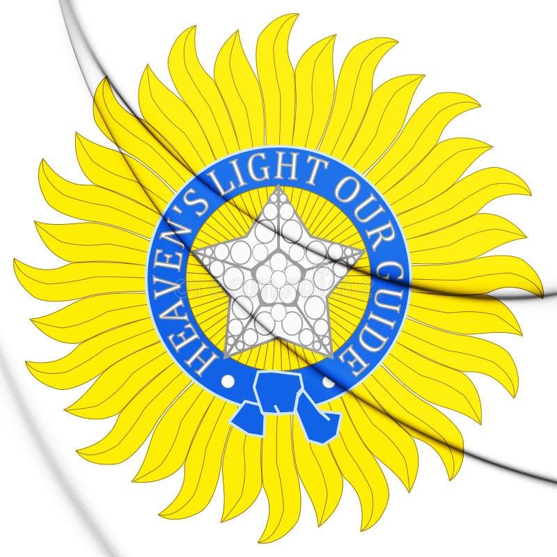 estrela 3D da ordem da estrela do emblema da Índia ilustração royalty free