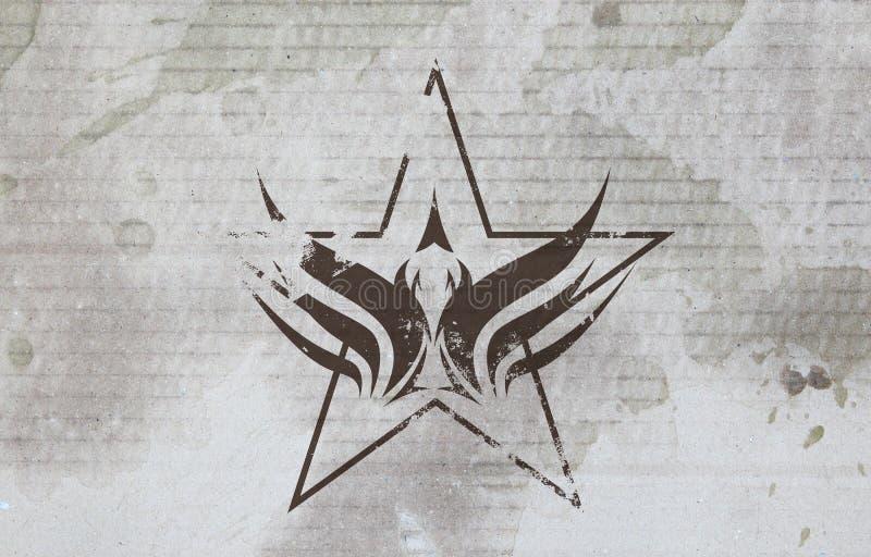Estrela da águia de Grunge ilustração do vetor