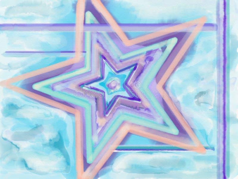 Estrela da aquarela fotografia de stock royalty free