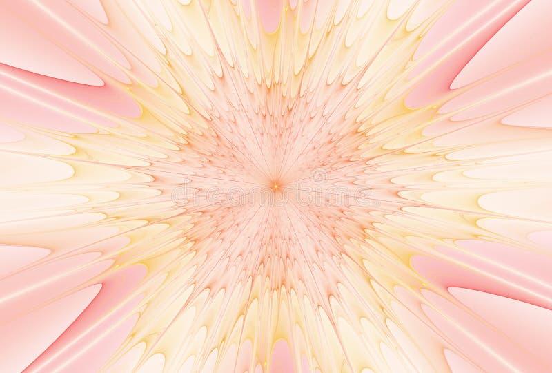 Estrela da explosão do Fractal com brilho e linhas ilustração royalty free