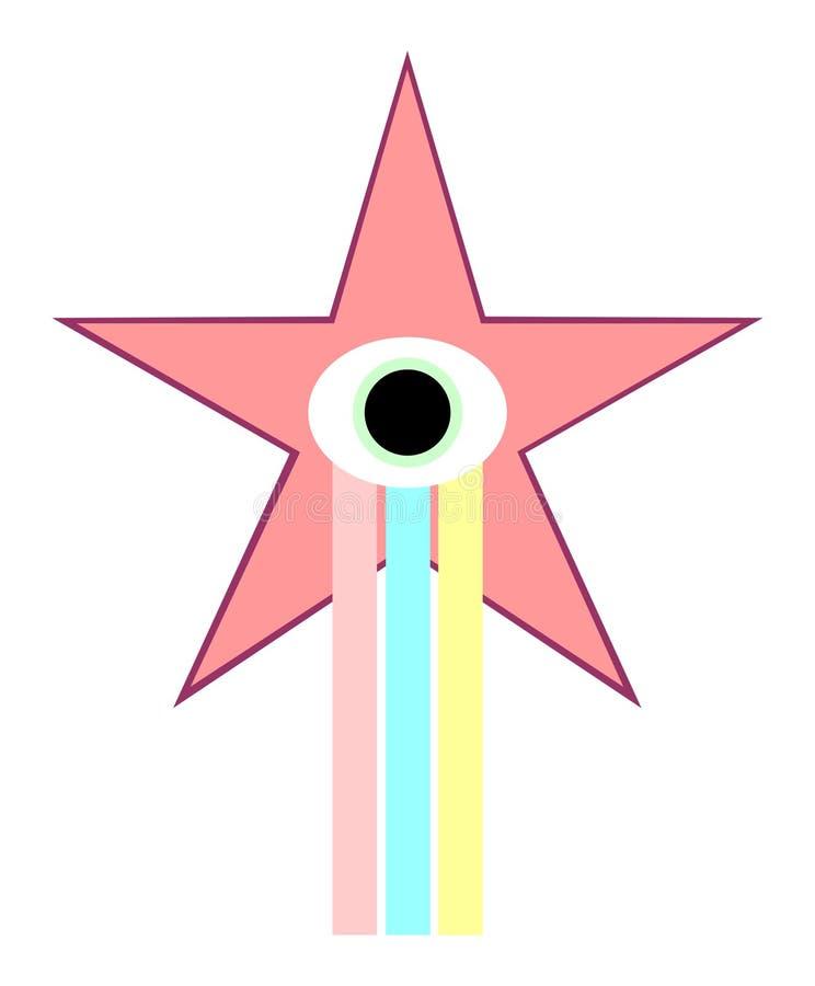 Estrela da fita fotografia de stock