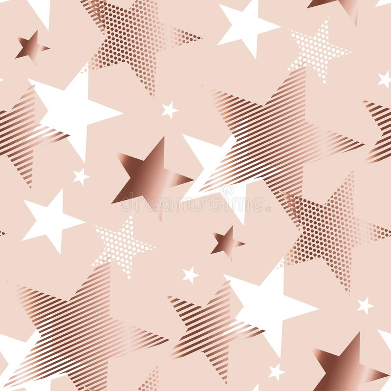 Estrela da geometria do sumário da cor do ouro de Rosa ilustração do vetor