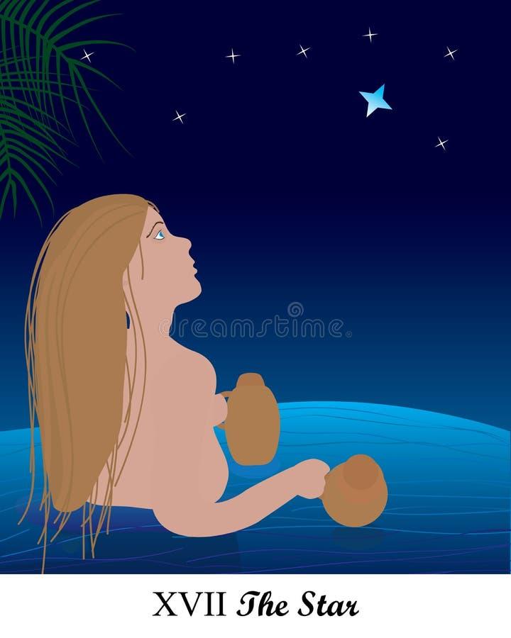 Estrela da história do tarô ilustração royalty free