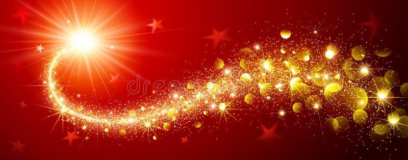 Estrela da mágica do Natal ilustração do vetor