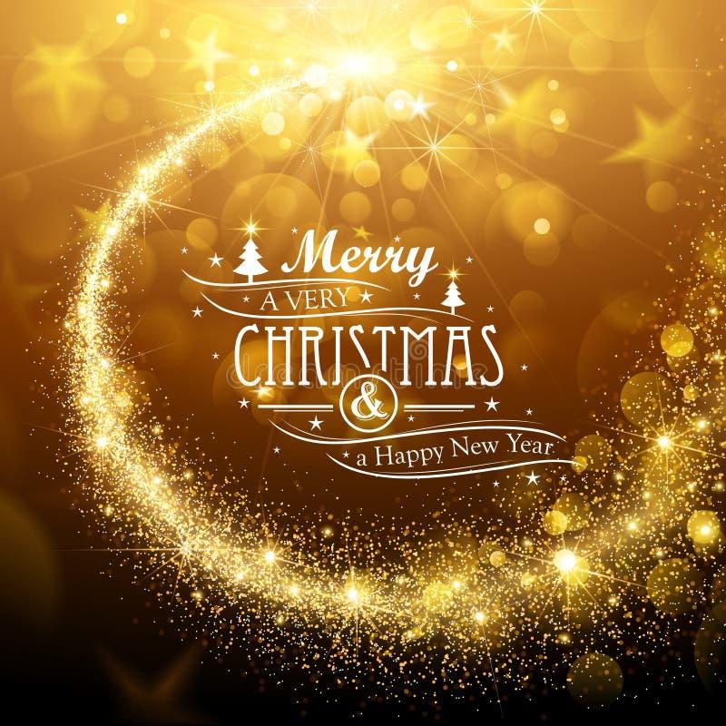 Estrela da mágica do Natal ilustração royalty free