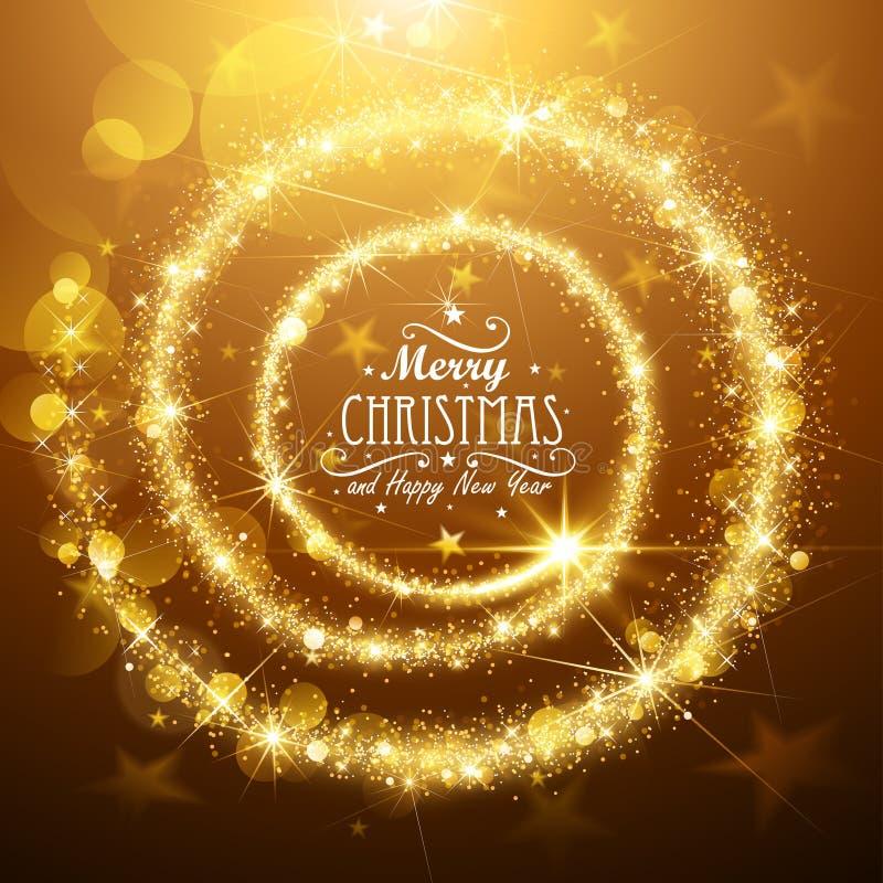 Estrela da mágica do Natal ilustração stock