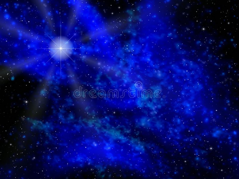 Estrela da noite ilustração do vetor