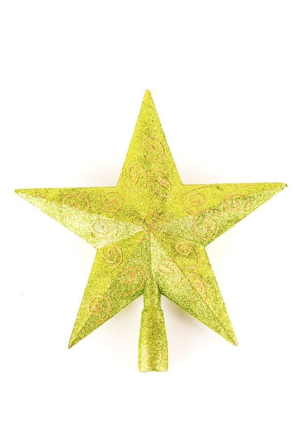 Estrela da parte superior da árvore de Natal fotos de stock royalty free