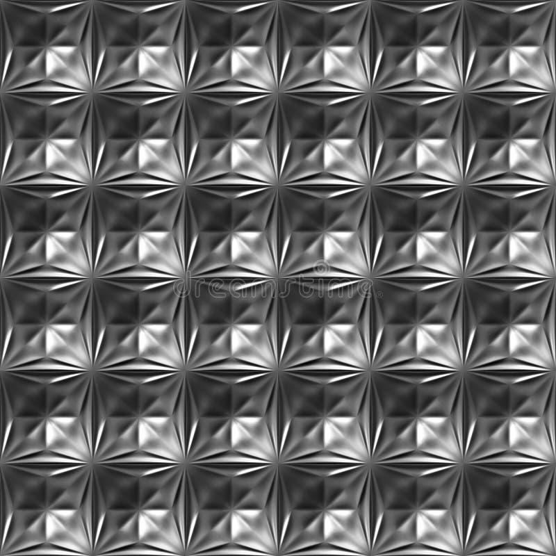 A estrela da placa de metal grava o teste padrão sem emenda ilustração stock