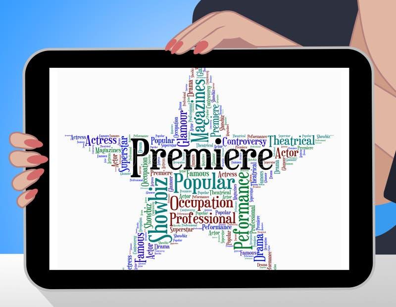 A estrela da premier representa noites da inauguração e desempenho ilustração royalty free