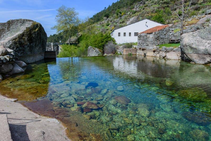 Estrela DA serra βουνών στην Πορτογαλία στοκ φωτογραφία