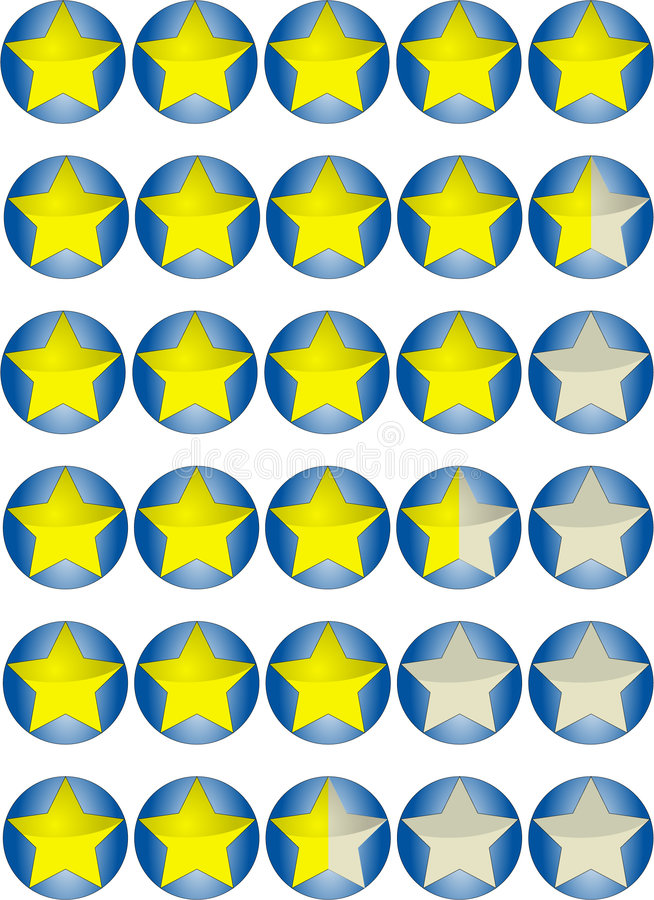 Estrela da taxa elevada ilustração stock