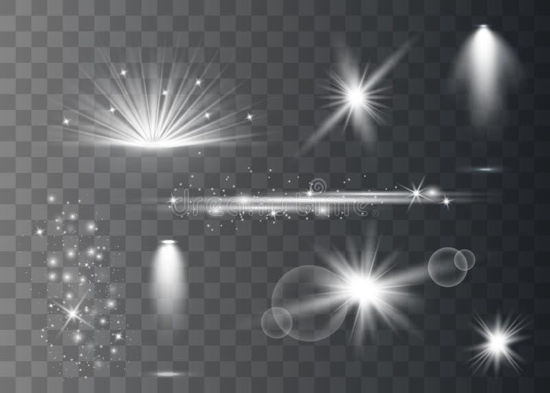Estrela de alargamentos realística da lente ilustração royalty free