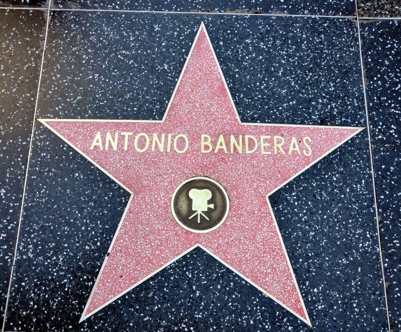 Estrela de Antonio Banderas imagens de stock