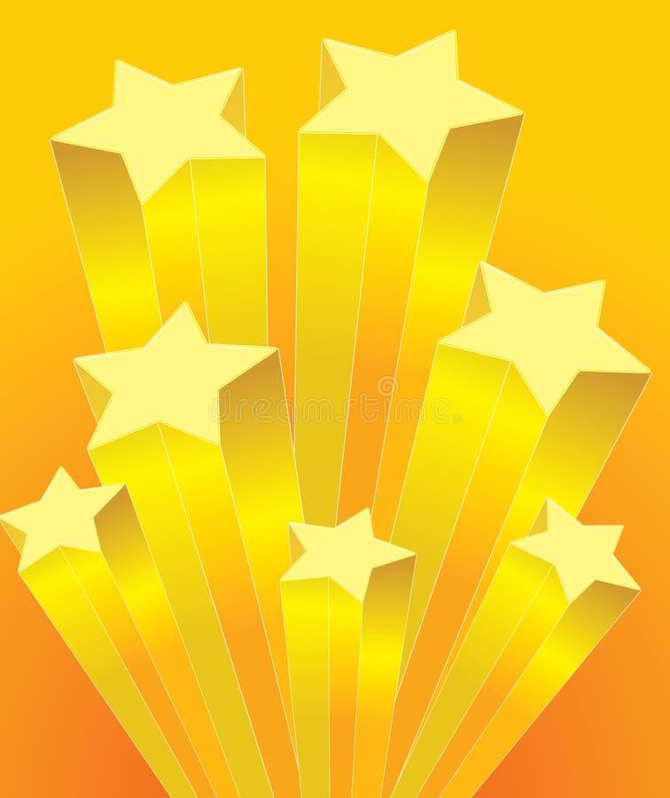 Estrela de aumentação ilustração stock