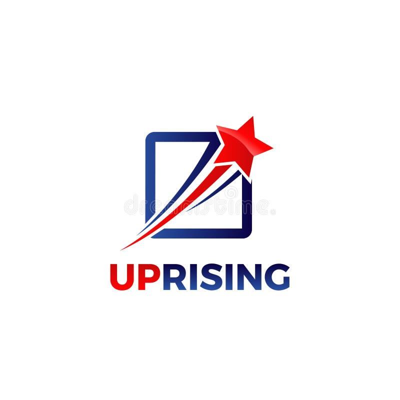 Estrela de aumentação Logo Design do Swoosh foto de stock