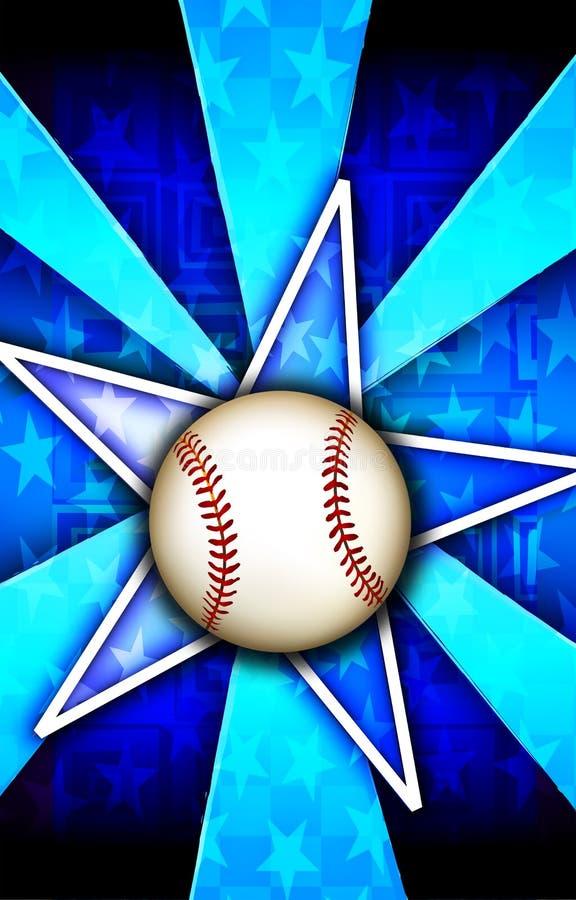 A estrela de basebol estourou o azul ilustração do vetor