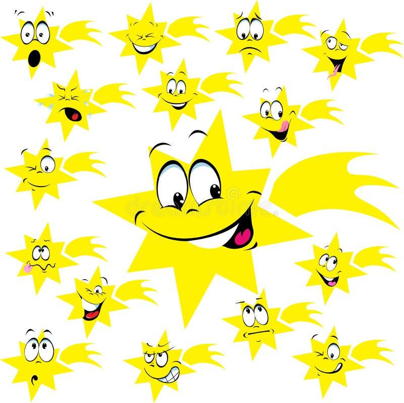 Download Estrela De Belém Com Muitos Expressão Facial - Vetor Ilustração do Vetor - Ilustração de expressões, christmas: 80100739