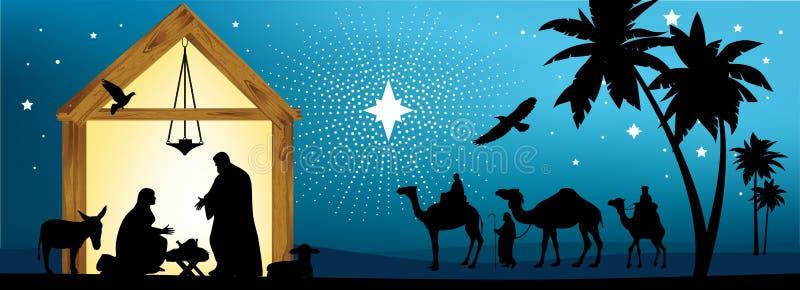 Estrela de Bethlehem. ilustração stock
