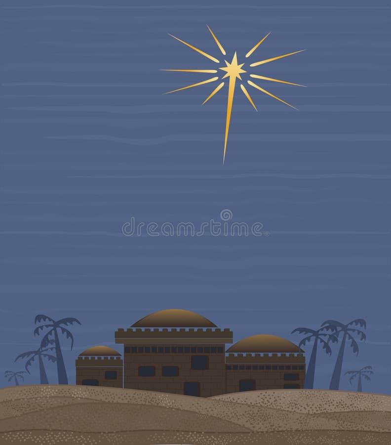 Estrela de Bethlehem ilustração do vetor