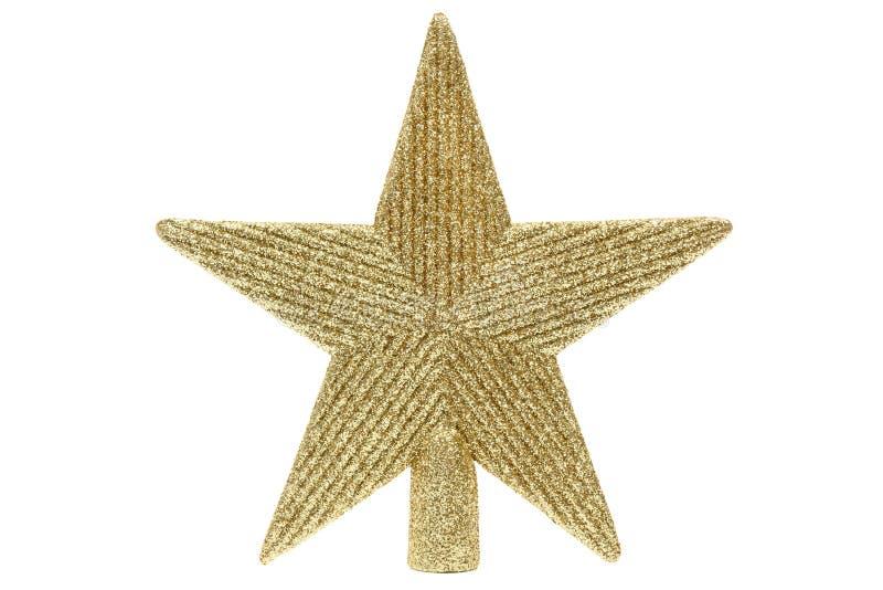 Estrela de brilho dourada fotografia de stock