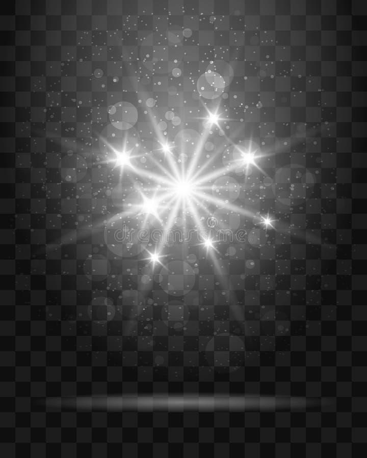 Estrela de brilho na ilustração transparente do fundo ilustração royalty free