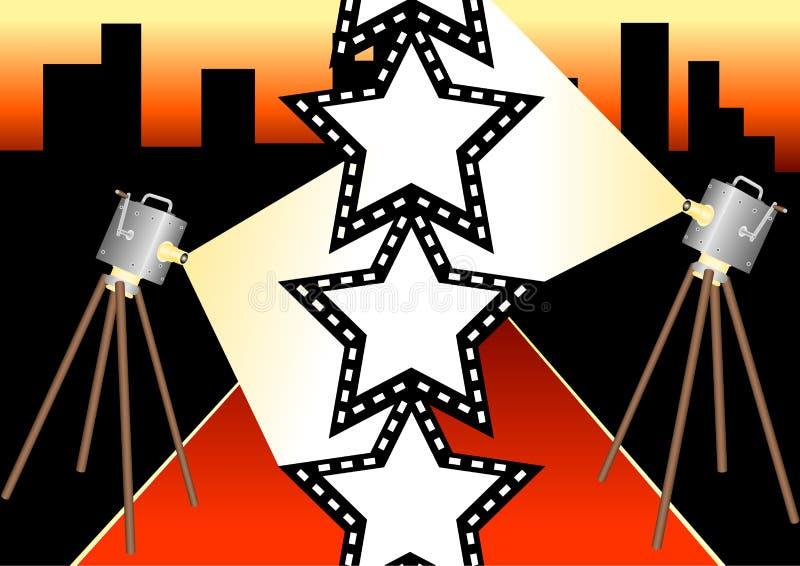 Estrela de cinema 1 ilustração stock
